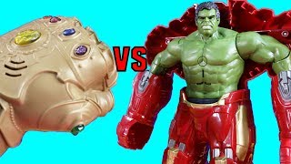 Ultimate Hulk Smash Vs. Infinity War Ultimate Infinity Gauntlet Part 2 + Imaginext Toys & Hulkbuster