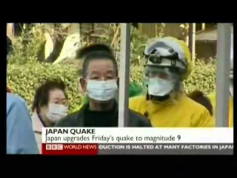Japan 2011 Earthquake 14 - Aftermath Day 2 (1 of 2) - BBC News Reports 13.03.2011