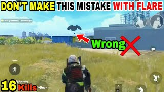 DON'T MAKE THIS MISTAKE WHILE USING FLARE-GUN(16 kills asia)• PUBG MOBILE GAMEPLAY