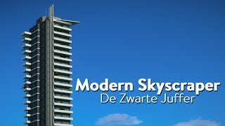 Planet Coaster Blueprint Creation - Modern Skyscraper #1 (De Zwarte Juffer)