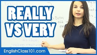Difference between REALLY and VERY - Learn English Grammar