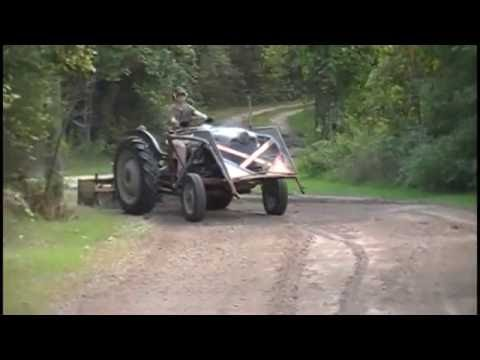 Gravel Driveway Maintenance with the 1953 Ford Golden Jubilee Tractor