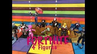 """Jazwares FORTNITE 4"""" action figures Drift, Omega, Raptor, Cuddle Bear, Carbide"""