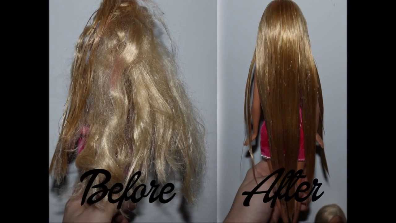 How To Fix Messy Barbie Hair Straight Hair Tutorial