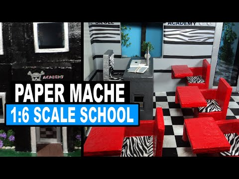 Doll Crafts   How to Make a Monster High Doll School & Dorm