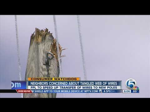 Neighbors want leaning utility poles fixed