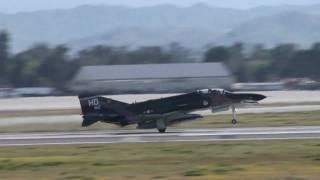 2 F-4s loud takeoff