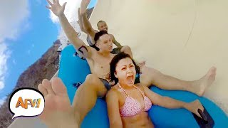 Slip & Slide & FAIL! Water Fails Funny | AFV 2019