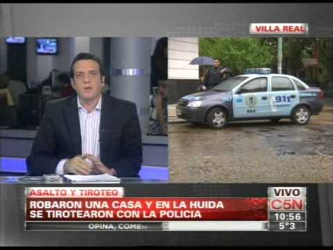 C5N - POLICIALES: ASALTO Y TIROTEO EN VILLA REAL (PARTE 1)