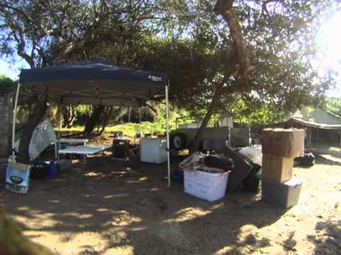 fun faster - setting up camp in Mili, Mozambique