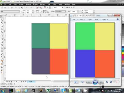 Fix Corel Draw Colors x3 x4 x5