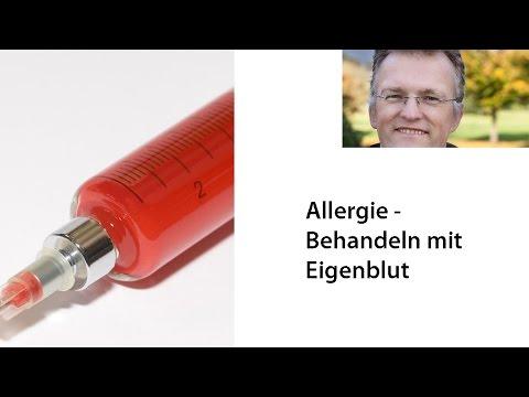 Allergie - Behandeln mit Eigenblut