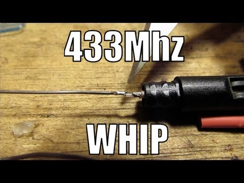 RCHacker #36 - Half wave whip antenna for 433MHz.
