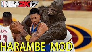 HARAMBE SIGNED BY CAVS - NBA 2K17 MOD HIGHLIGHTS - 60 FPS HD