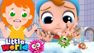 Wash Your Hands Song | Healthy Habits Song | Little Angel Kids Songs