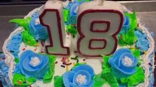 Happy 18th birthday  marble cake