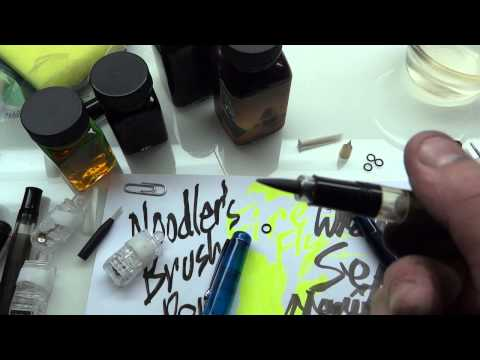 Noodler's brush pen applications