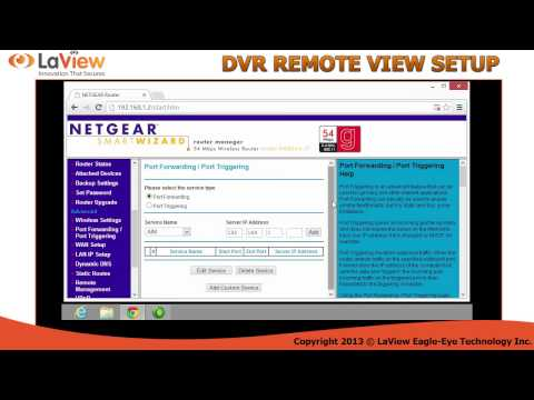 How to setup your LAVIEW USA DVR for remote view step by step.