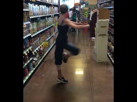 Tia Wenkman pirouettes in the Grocery Store