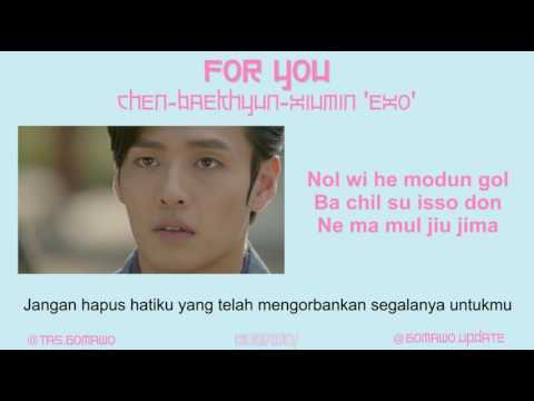 EXO CBX - FOR YOU (Ost. Moon Lovers) [MV, EASY LYRIC, LIRIK INDONESIA]