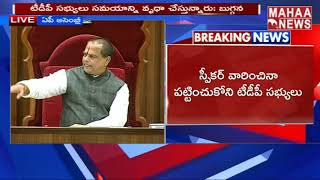 Chevireddy Bhaskar Reddy Angry On TDP Leaders At Assembly Budget Session  | MAHAA NEWS