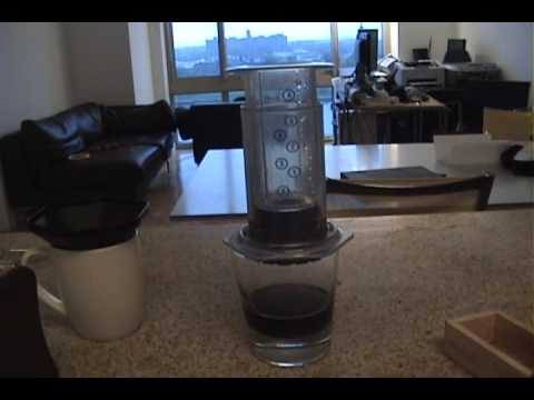 How to use the AeroPress coffee / espresso maker - Aeropress review Aero Press - YouTube
