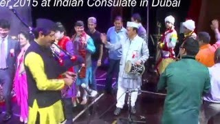 Multitalented Mohan Joshi Playing Bagpiper at Uttarakhand Musical Nite in Dubai