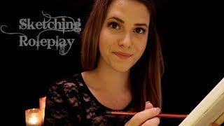 ASMR Ich zeichne dich ♡ sanftes SKETCHING YOU RP  in German/Deutsch