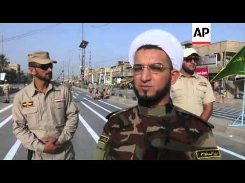 Thousands gather for Mahdi Army military parade in Baghdad