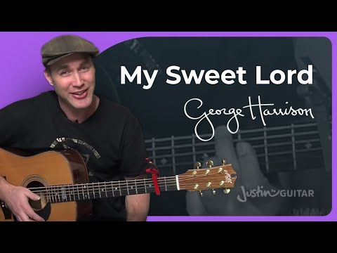 How to play My Sweet Lord by George Harrison (Acoustic Guitar Lesson SB-119)