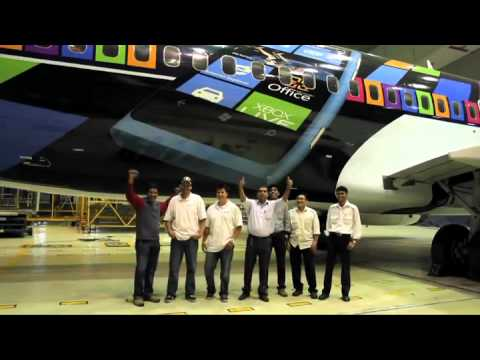Jet Airways - Nokia Lumia airplane wrap.mp4