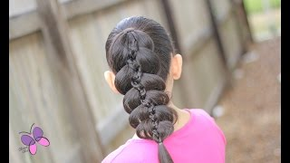 5 Strand Pony| Hairstyles for School | Hairstyles for Girls |ided Hairstyles |s Chic
