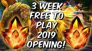 Double 4 Star Free To Play 2019 Crystal Opening! - 3 Weeks - Marvel Contest of Champions