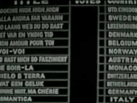 Eurovision 1960 - Voting Part 1/2
