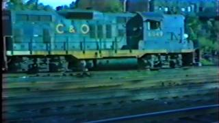 Chessie Steam Special,Being Switched,6-27-81 6am