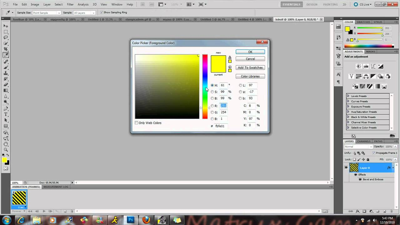 How to make changing text color photoshop cs5 - YouTube