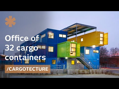 Beauty of the US' biggest shipping container office building