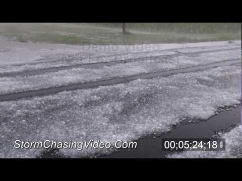 8/9/2011 Hail storm stock footage B-Roll