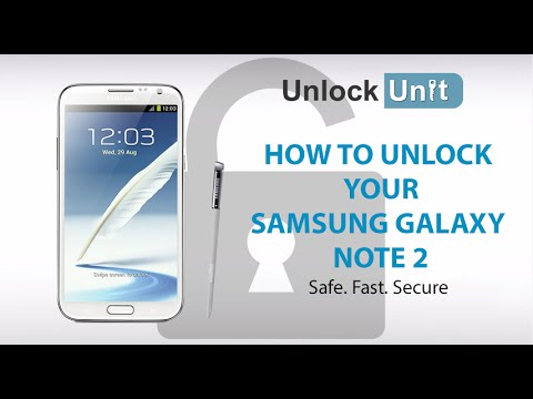 UNLOCK SAMSUNG GALAXY NOTE 2 - HOW TO UNLOCK YOUR SAMSUNG GALAXY NOTE 2