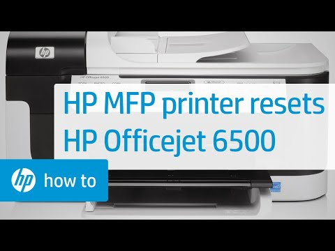 HP Multifunction Printer Resets - HP Officejet 6500