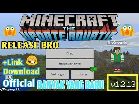 Minecraft Update Aquatic Ver 1.2.13.60(official update)+Link download#Minecraft Indonesia