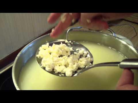 Определение готовности сырного зерна. Сжатие в кулаке в комок.