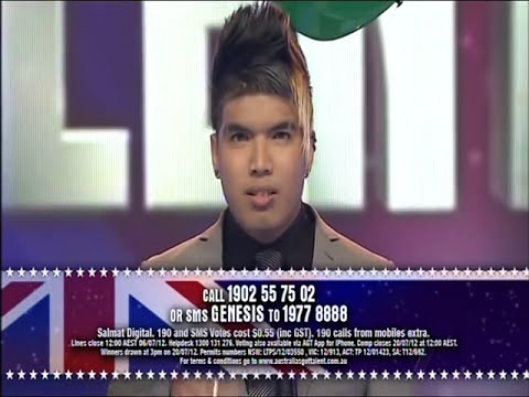 Genesis - Beatboxer - First Final - Australia's Got Talent 2012 [FULL]