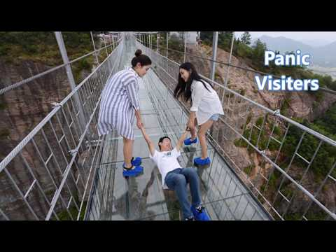 Glass bridge in china
