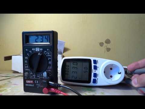 Ваттметр. Распаковка, тест и разборка / Wattmeter. Unboxing, testing and disassembling