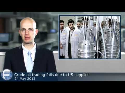 Crude oil trading falls due to US supplies