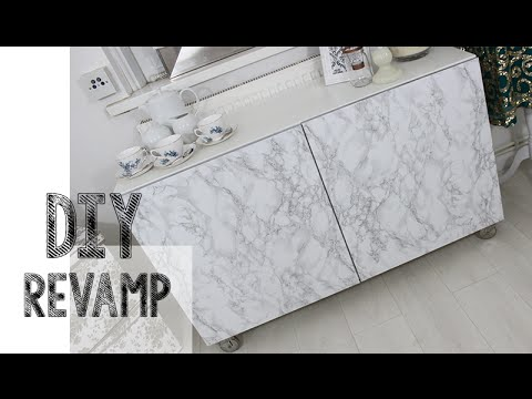 DIY   Ikea Hack Easy Marble Effect