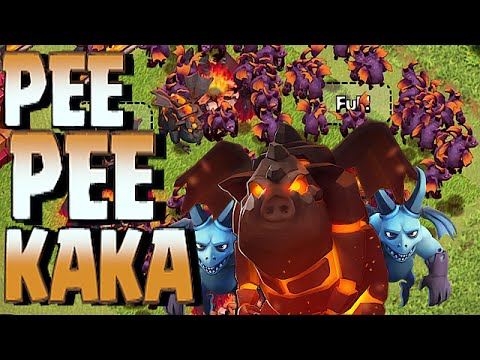 Clash Of Clans - MINION & LAVA HOUND = PEE PEE KAKA!! (Troll Team compositions)