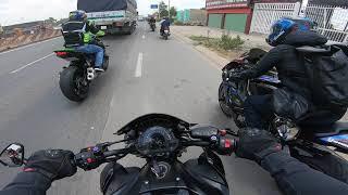 [P1] Trên đường đi dự đại hội môtô gặp nhiều đồng bọn (SG - Thác Giang Điền)