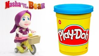 Маша и Медведь Masha i Medved Play Doh Stop Motion Masha and the Bear Spiderman Frozen Elsa Video